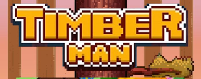 8bit-style game Timberman Flash version also available  Can
