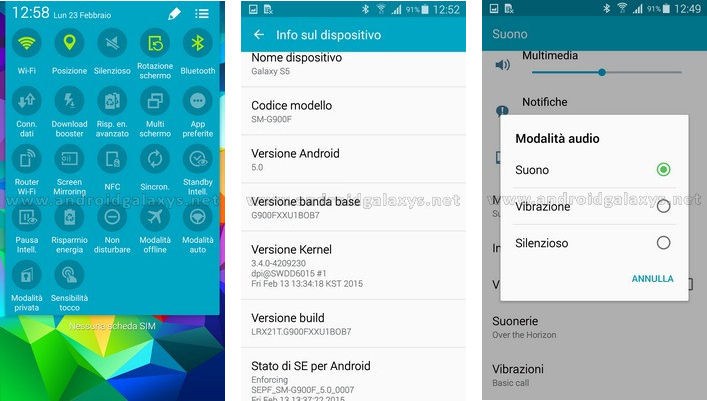 how to turn samsung s5 to silent
