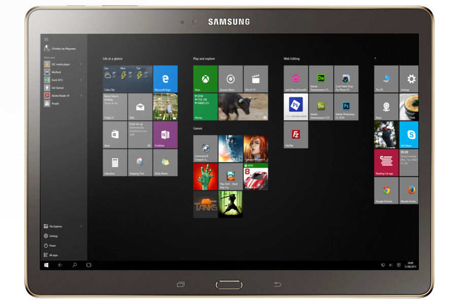 Rumor Samsung Developing A 12 Inch Windows 10 Tablet