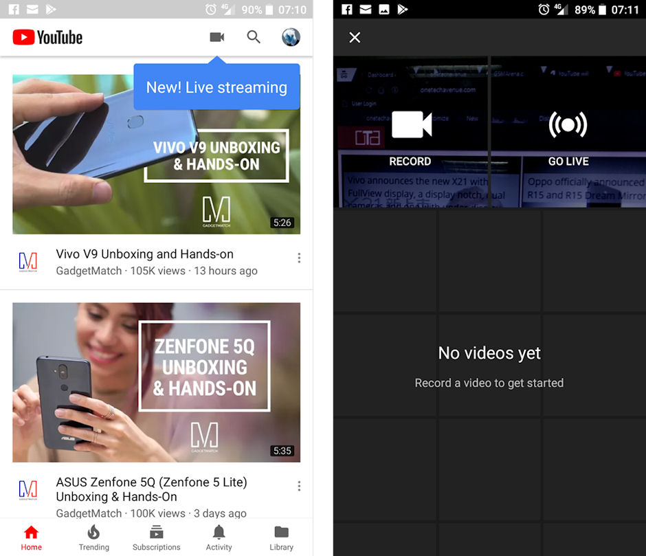 YouTube will soon stream live videos directly from