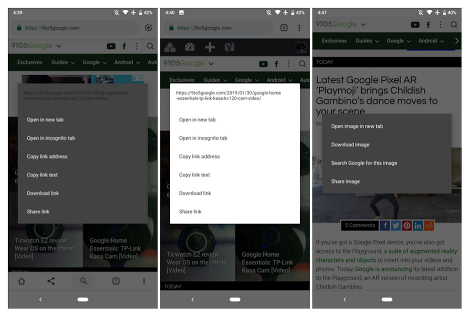 Google testing dark mode with the latest Chrome beta for Android